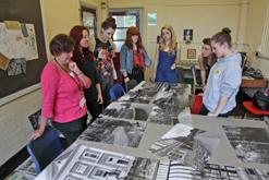 Editing the display, Townley Grammar School