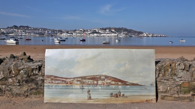 Appledore 2012 and 1798 (painting by Thomas Girtin)