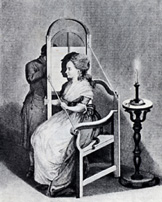 Silhouette chair, designed by Goethe & Lavater c.1775
